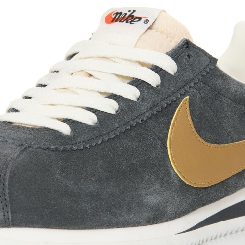 Nike Classic Cortez Vintage Suede Anthracite/Gold