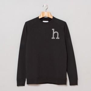 Han Kjøbenhavn / H Crew Neck Sweatshirt (Black)